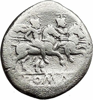 Roman Republic Anonymous Dioscuri Gemini Cult  Horse Ancient Silver Coin  i31307