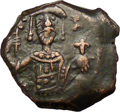 Manuel I , Comnenus  1143AD Rare Ancient Byzantine Authentic Coin Cross i28926