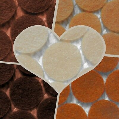 -:- Circles - Felt Die-Cuts - Crafts, Cardmaking etc - BROWNS - Choose the sizes
