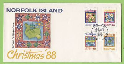 Norfolk Is. 1988 Christmas set on  First Day Cover