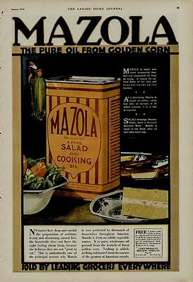 1920 Mazola Ads / 2-Ads Scenes - With The Lady Of The Corn - Great Deal...