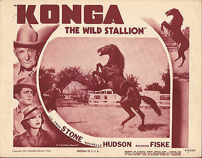 KONGA THE WILD STALLION orig 1939 movie poster HORSES/ROCHELLE HUDSON/FRED STONE