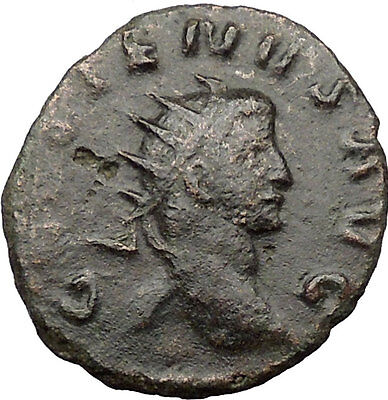 GALLIENUS son of Valerian I Ancient Roman Coin Happiness Goddess Cult   i31655