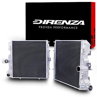 DIRENZA 40mm PAIR ALLOY RADIATOR RAD FOR PORSCHE 911 997 987 GTS BOXSTER CAYMAN