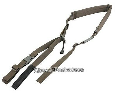 Tactical Military Quick Adjustable Padded 2 Point Rifle Sling Shoulder Strap FG