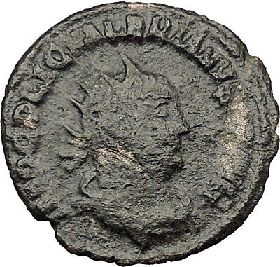 Valerian I & his son Gallienus sacrificing  255AD Ancient Roman Coin i32287