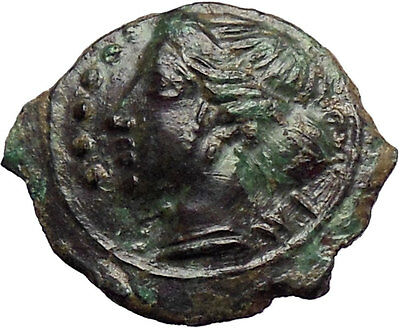 HIMERA Sicily 420BC QUALITY Ancient Greek Coin Nymph & Success  Wreath  i28417