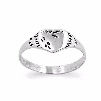 Heart Baby Ring Sterling Silver 925 Lovely Child Jewelry Gift Size Selectable