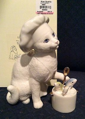Lenox Kitty's Cafe Cat Kitten Figurine Sculpture First Quality New In Box W/COA
