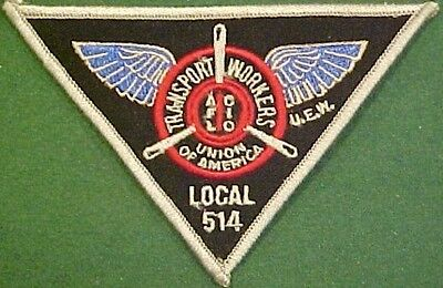 Tulsa Zebco Local 514 Transport Workers Triangle Patch
