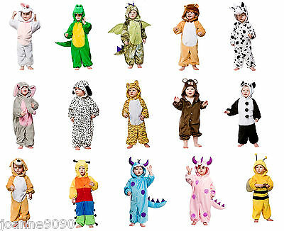 Toddler Animal Fancy Dress Up Zoo Costume Child Boys Girls Plush Jumpsuit Jungle