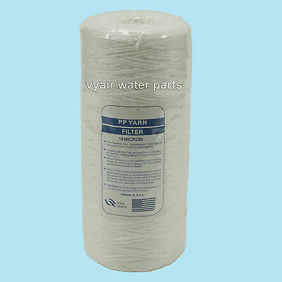 "10"" Jumbo Wound Particle Filter 10 Micron Water, Vegetable Oil, Biodiesel"