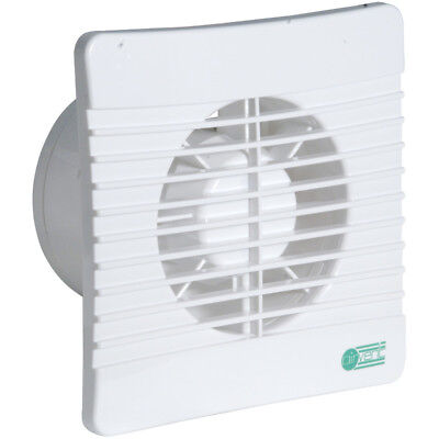 """Airvent Low Profile 4"""" 100mm Slimline Extractor Fan Timer & Backdraught Shutters"""