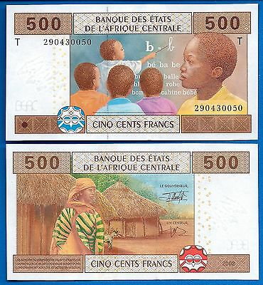 African States Central P-106T  500 Francs Uncirculated Banknote Africa