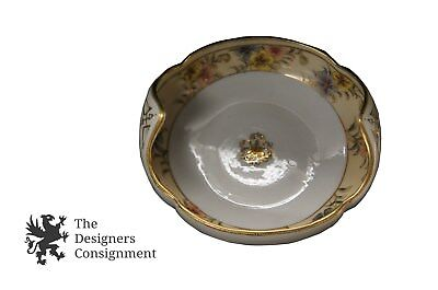 Noritake Hand Painted Moriage Round Compote Candy Dish 1911 1921 Nippon Morimura