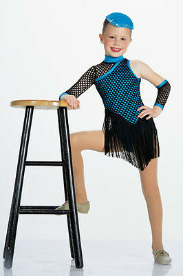 Clearance SUGAR BLUES Ice Skating Tap Flapper Dance Costume With Hat Child Small