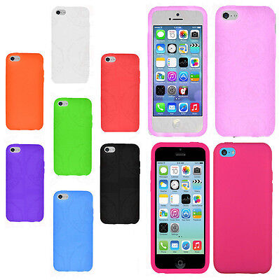 For Apple iPhone 5C Rubber SILICONE Soft Gel Skin Case Phone Cover