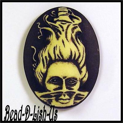 2 x Mistress of the Sea Tattoo Cameo 40x30mm Gothic Rockabilly Pendant  Cabochon