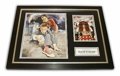 RARE David Tennnant SIGNED Framed Photo Dr Who AUTOGRAPH Time Lord Display + COA