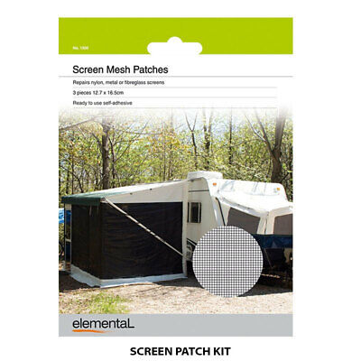 Window Flyscreen Patches Mesh Caravan Tent Camping Boat Parts Accessories Repair