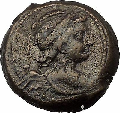 Antiochos VII Euergetes 138BC Ancient Seleucid Greek Coin Eros Cupid Isis i36811