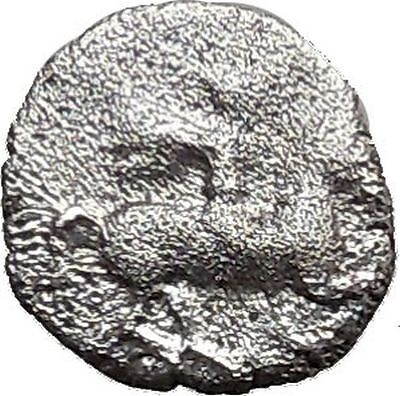 LARISSA Thessaly 479BC Obol Ancient Silver Greek Coin Horseman Athena i36789