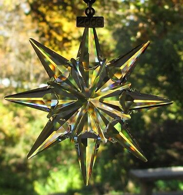 SWAROVSKI Crystal 2009 Annual Large Snowflake Star Christmas Ornament Mint & NIB