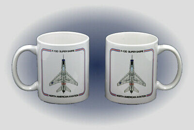 F-100 Super Sabre Coffee Mug - Dishwasher and Microwave Safe
