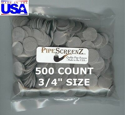 """500+ Count 3/4"""" Stainless Steel Pipe Screens HIGHEST QUALITY STILL MADE IN USA!"""