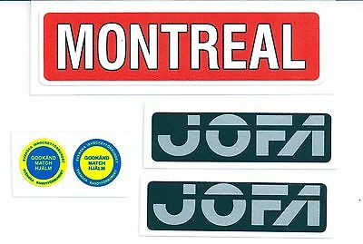 Replicated Vintage Jofa VM Helmet 225 & 235 51 Stickers Mid 70's Tretiak Style