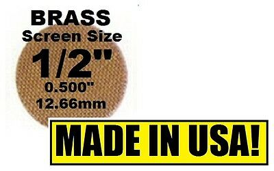 "100+ BRASS PIPE SCREENS .500"" (1/2"") 12.7mm Brand New! PipeScreenZ - MADE IN USA"