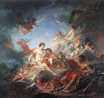 """Nice Oil francois boucher - Vulcan Presenting Venus with Arms for Aeneas 48"""""""