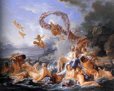 """Art Beautiful Oil painting francois boucher The Birth of Venus in seascape 48"""""""