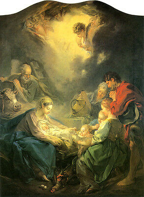 """Oil painting francois boucher Adoration of the Shepherds - Madonna & Christ 48"""""""