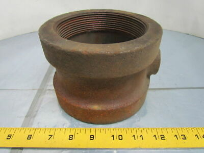 "Grinnell 4x4x3/4"" NPT Malleable Iron Black Pipe Tee Reducing Class 125 USA"
