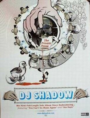 DJ SHADOW 2002 the private press promotional poster MINT condition N.O.S.