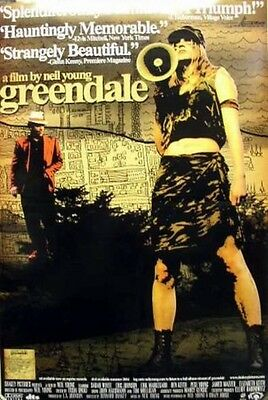 NEIL YOUNG 2004 greendale original film promo poster ~NEW old stock & MINT~!