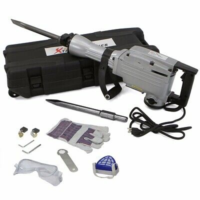 2200W Demolition Concrete Jack Hammer 1900RPM 2200 Watts w/ 2pcs Chisel