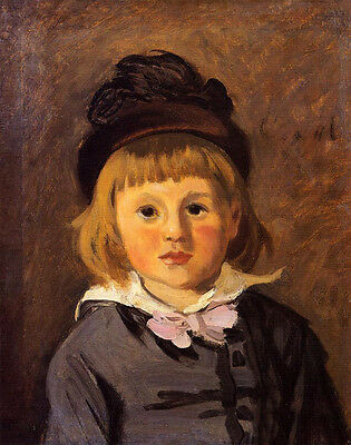 Oil painting Claude Monet - Portrait of Jean Monet Wearing a Hat with a Pompom