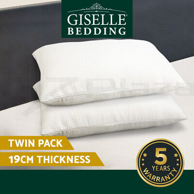 2 X Premium Visco Elastic Home Bed MEMORY FOAM Pillow Extra Thick Medium to High