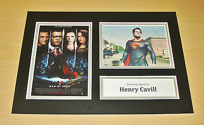 Henry Cavill SIGNED A4 Photo Display Genuine Man Of Steel AUTOGRAPH + COA