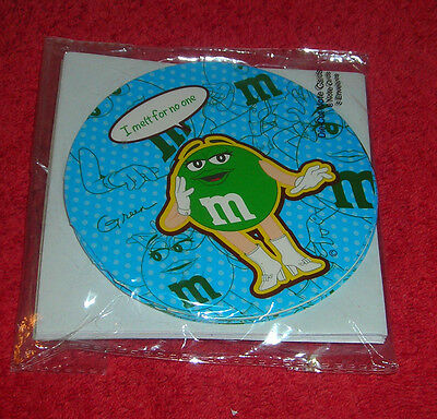 M&m Candy Green Collectible Round Blank Note Cards Pack Of 8