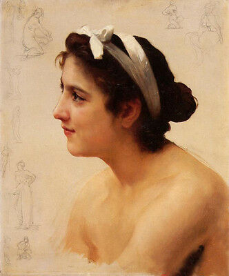 Nice Oil painting Bouguereau - Study Of A Woman For Offering To Love canvas