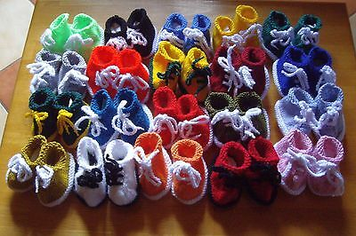 Really Cute Baby Tennis Shoes Booties Sneakers New Handknitted