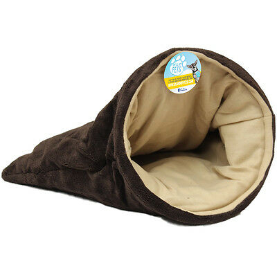 Me & My Pet Cat/kitten Snug Fur Lined Bed/sleeping Bag/pouch Soft/crinkle/hide