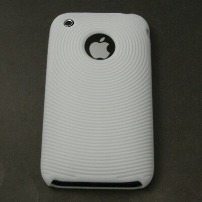 White Silicone Skin Case for Apple iPhone 3G 8GB 16GB