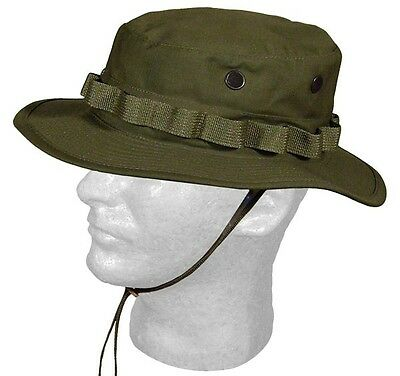 GI Boonie Hat Olive Drab Green Camouflage, Military Sun Hat, Made in USA, USGI