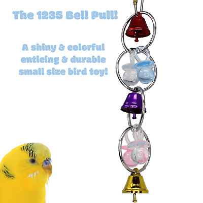 1235 BELL BIRD TOY parrot cage toys cages african grey amazon cockatiel caique