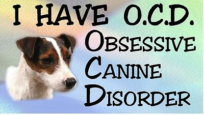 PARSON/JACK RUSSELL - OBSESSIVE CANINE DISORDER Dog Car Sticker By Starprint