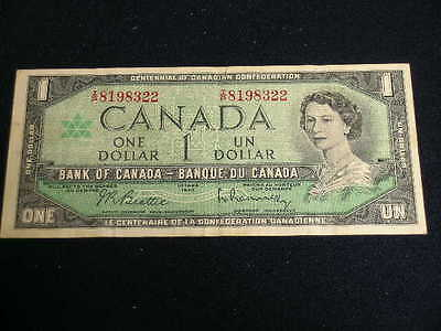 1967 ONE Dollar Bill $ 1  Note   BANK OF CANADA    8198322